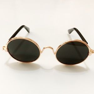 Black Retro Pet Sunglasses